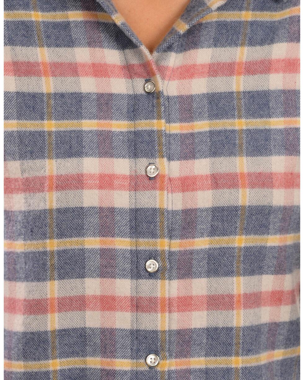 White Crow Women's Harvest Moon Plaid Flannel Shirt, Blue, hi-res