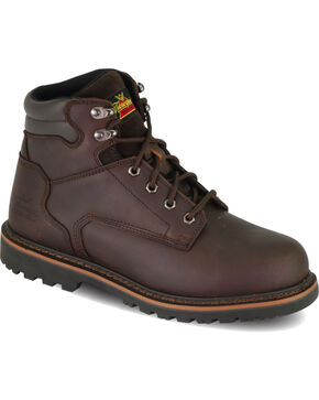 "Thorogood Men's 6"" Work Boots - Steel Toe, Brown, hi-res"
