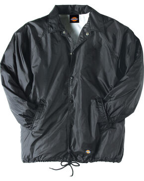 Dickies Snap Front Nylon Jacket, Black, hi-res