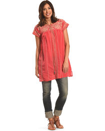Johnny Was Women's Lenat Pleated Peasant Long Tunic, , hi-res