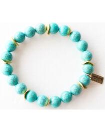 Everlasting Joy Jewelry Women's Turquoise Gold Chip Bracelet , , hi-res