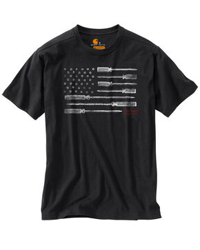 Carhartt Men's Lubbock Graphic Tool Flag T-Shirt, Black, hi-res