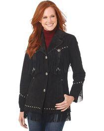 Cripple Creek Suede Leather Fringe Jacket, , hi-res