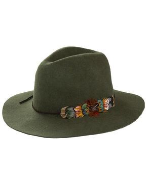 Peter Grimm Women's Bridget Olive Wool Felt Hat, Olive, hi-res