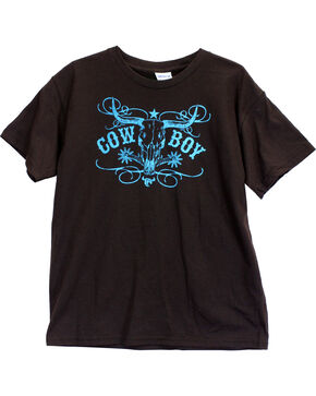 Cowboy Hardware Toddler Boys' Cowboy Short Sleeve Tee, Grey, hi-res