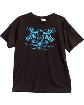 Cowboy Hardware Toddler Boys' Cowboy Short Sleeve Tee, Chocolate, hi-res