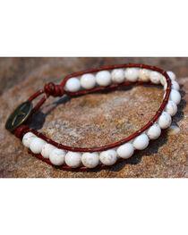 InspireDesigns Women's Brown Gemstone Threaded Wrap Bracelet , , hi-res