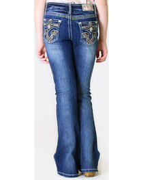 Grace in LA Girls' Charley Embroidered Jeans - Boot Cut, , hi-res