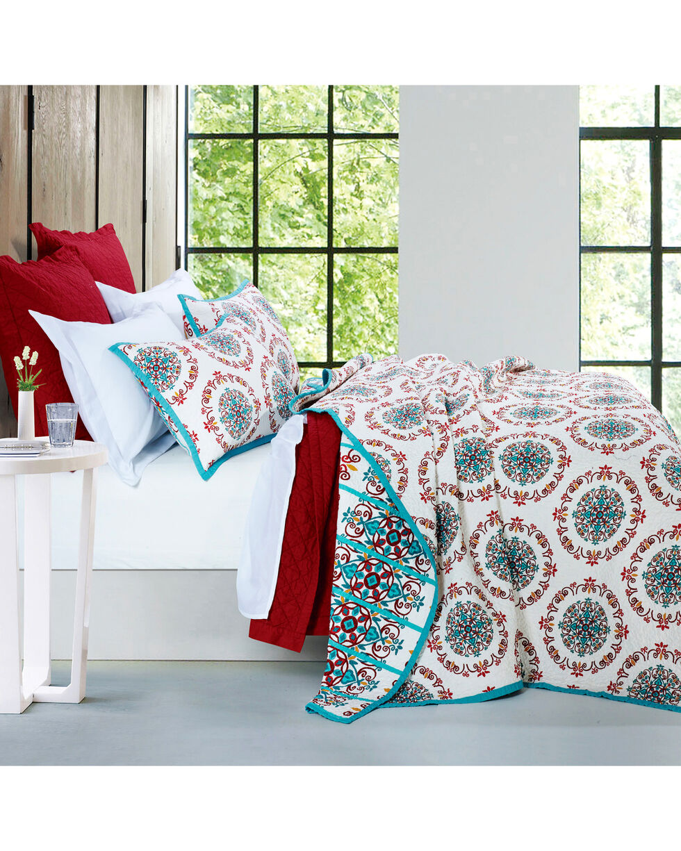 HiEnd Accents Multi Three Piece Sonora Quilt Set, King, Multi, hi-res