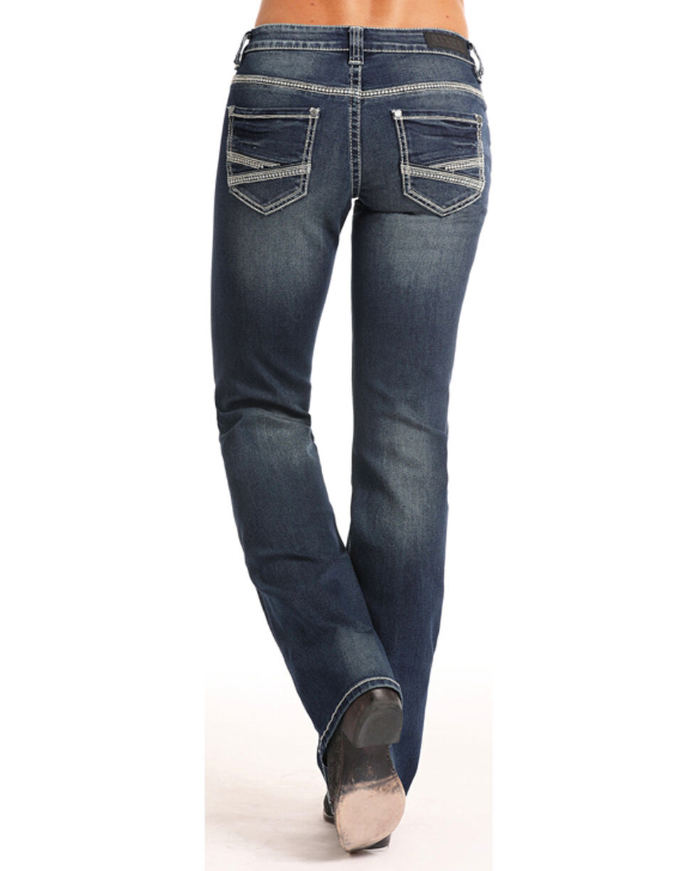 Rock & Roll Cowgirl Women's Coolmax Riding Jeans - Boot Cut  , Indigo, hi-res