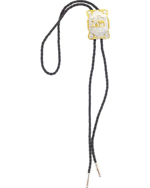 Cody James® Men's Horse and Cross Bolo Tie, Silver, hi-res