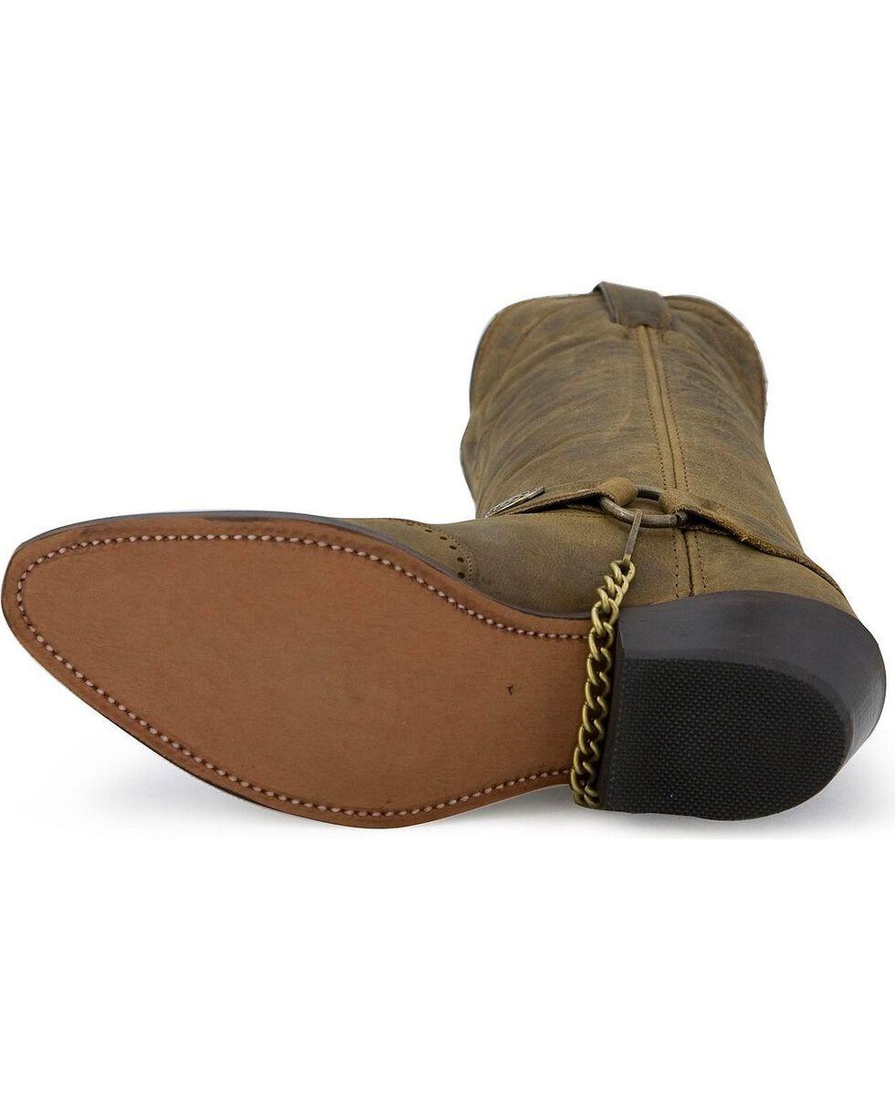 Sage Boots by Abilene Men's Longhorn Wingtip Western Boots, Distressed, hi-res