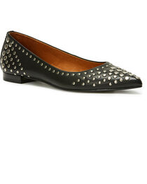 Frye Women's Black Sienna Multi Stud Ballet Flats - Pointed Toe, , hi-res