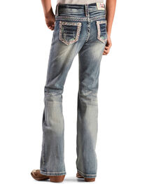 Grace in LA Girls' Embroidered Glitzy Jeans - Bootcut, , hi-res