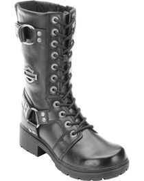 "Harley-Davidson Women's Eda 9"" Lace-Up Motorcycle Boots, , hi-res"