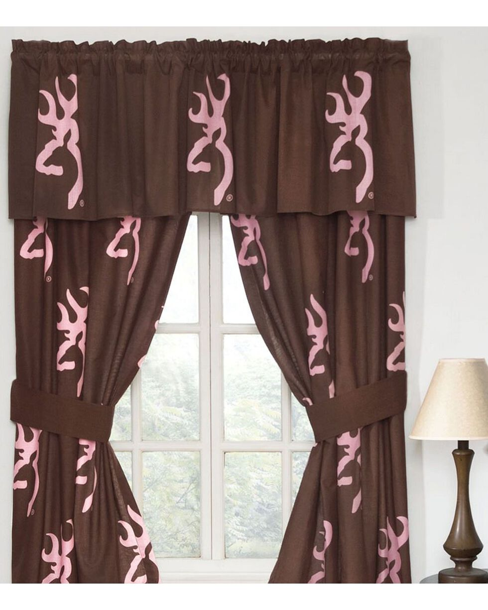 Browning Buckmark Pink Valance, Pink, hi-res