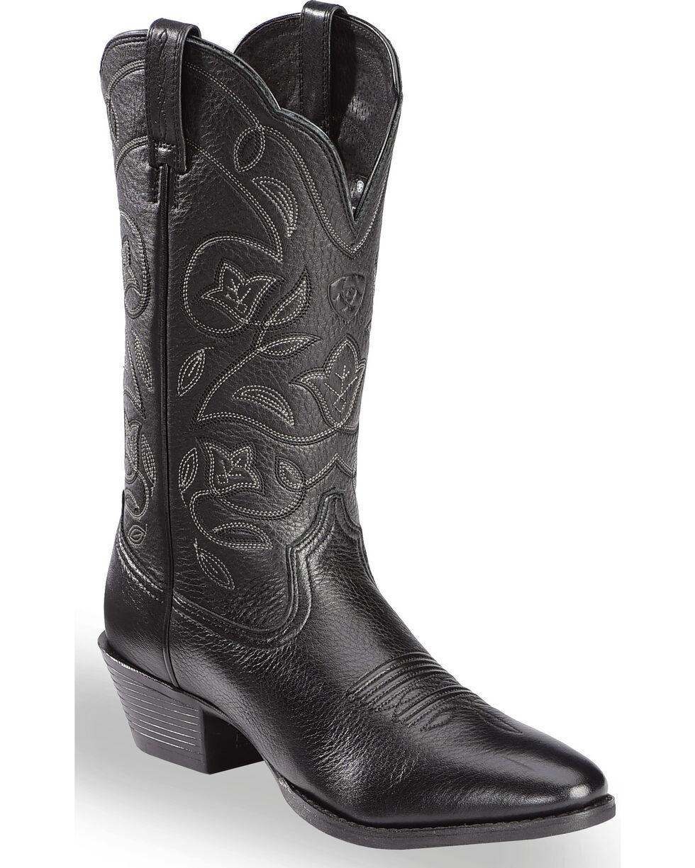 Ariat Western Deertan Cowboy Boots, Black, hi-res