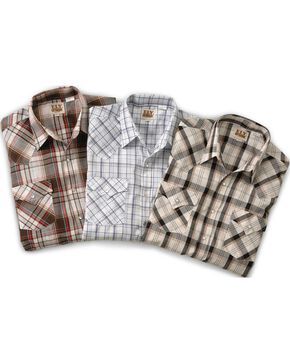 Ely Assorted Plaid & Stripe Long Sleeve Western Shirts - Big, Tall, Big/Tall, Plaid, hi-res