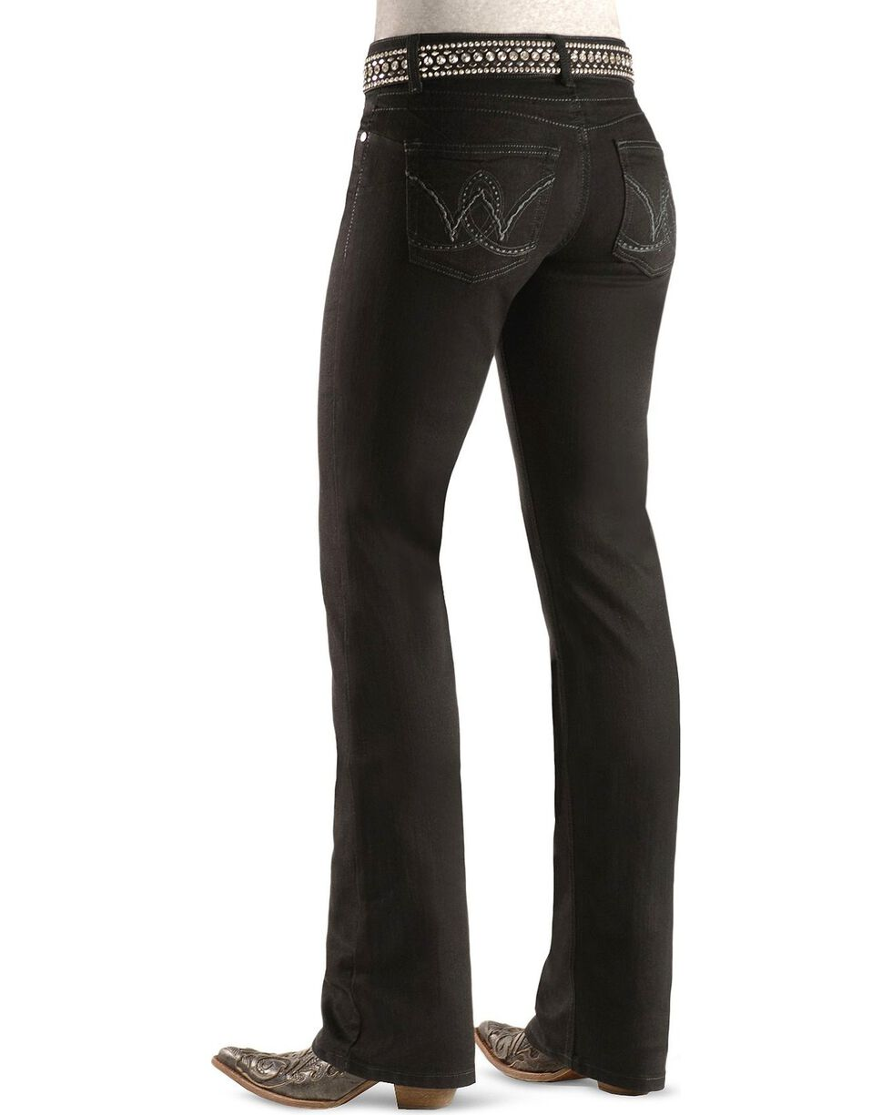 Wrangler Women's Booty Up Western Jeans, Black, hi-res