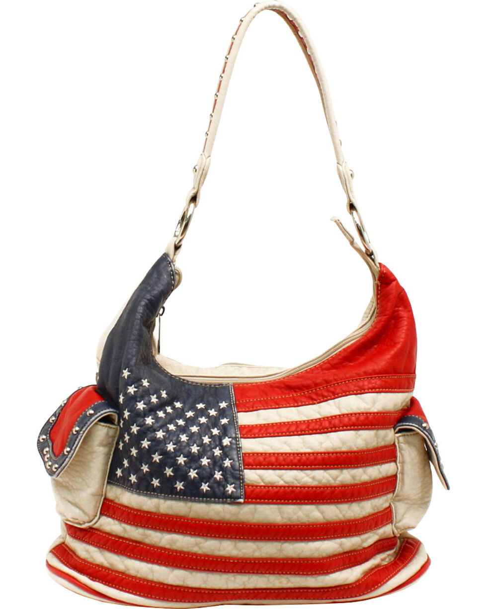 Blazin' Roxx Women's Americana Conceal and Carry Handbag, Patriotic, hi-res