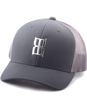 BEX Men's Metallic Icon Snap-Back Ball Cap, Grey, hi-res