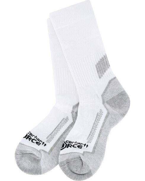Carhartt Boys' White Force Performance Crew Sock 3-Pack , White, hi-res