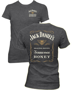 Jack Daniel's Women's Tennessee Honey Short Sleeve Tee, Grey, hi-res