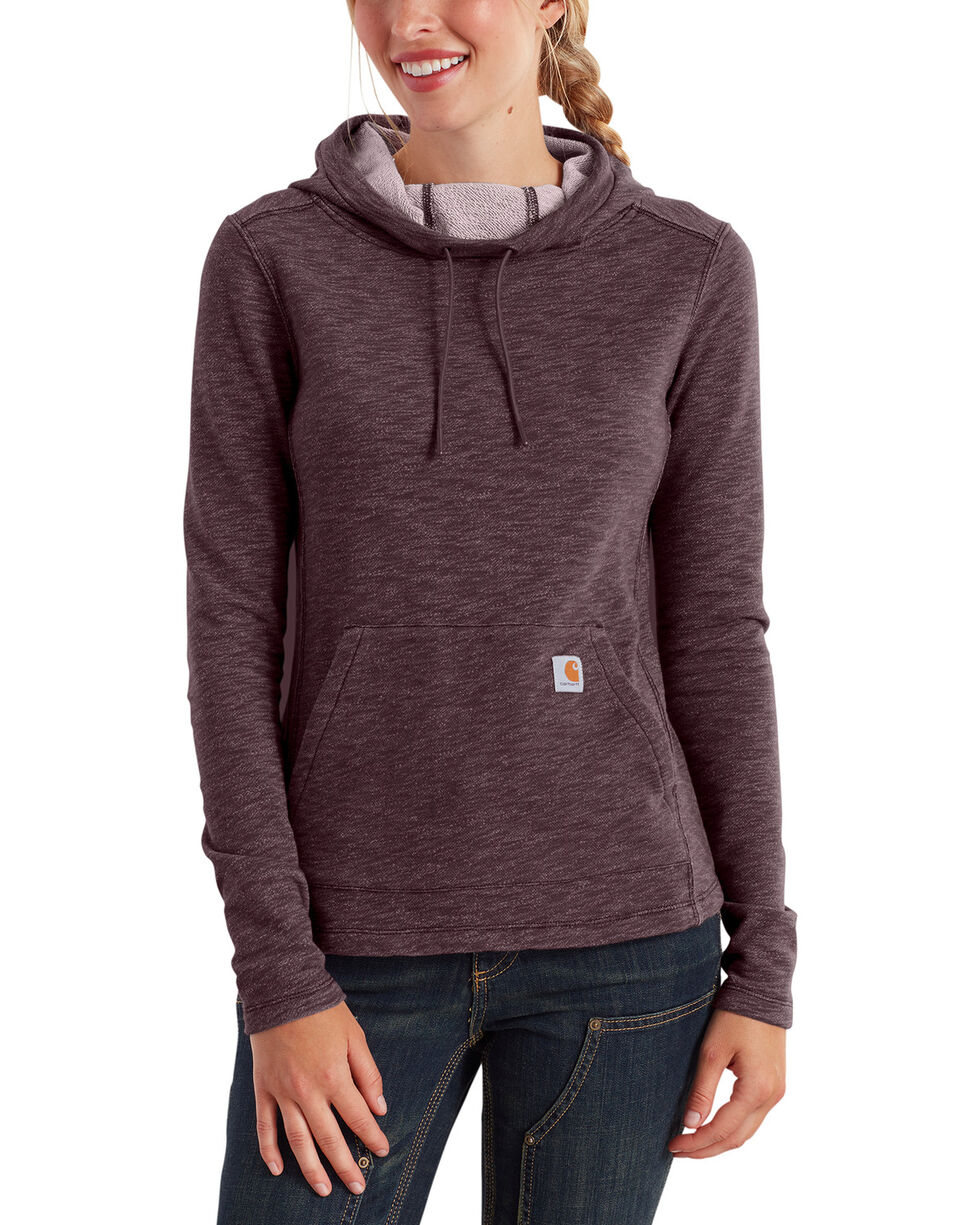 Carhartt Women's Newberry Cowl Neck Hoodie, Wine, hi-res