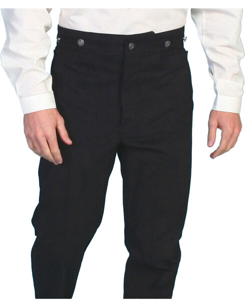 Wahmaker by Scully Cotton Frontier Pants, Black, hi-res