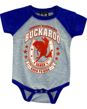Cowboy Hardware Toddler Boys' Buckaroo Romper (6MO-4T) , Royal Blue, hi-res