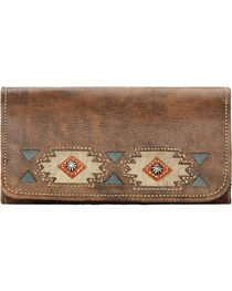 American West Women's Native Sun Tri-fold Wallet, , hi-res