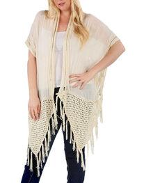 Forgotten Grace Women's Plus Crochet Vest, , hi-res
