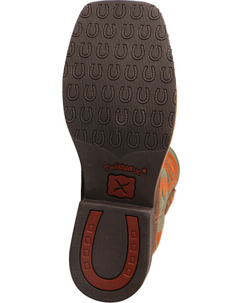 Twisted X HOOey Kids' Logo Western Boots, Lt Brown, hi-res
