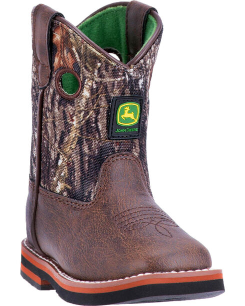 John Deere Toddler Boys' Pull On Rubber Outsole Boots - Broad Square Toe , , hi-res