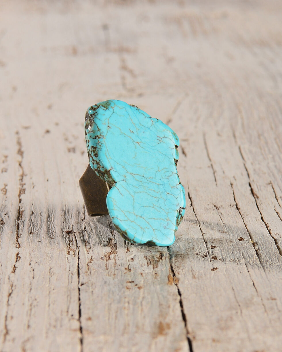 Jewelry Junkie Women's Turquoise Chunky Ring , Turquoise, hi-res