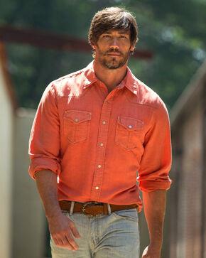 Ryan Michael Men's Clay Split Rail Seam Shirt , Red, hi-res