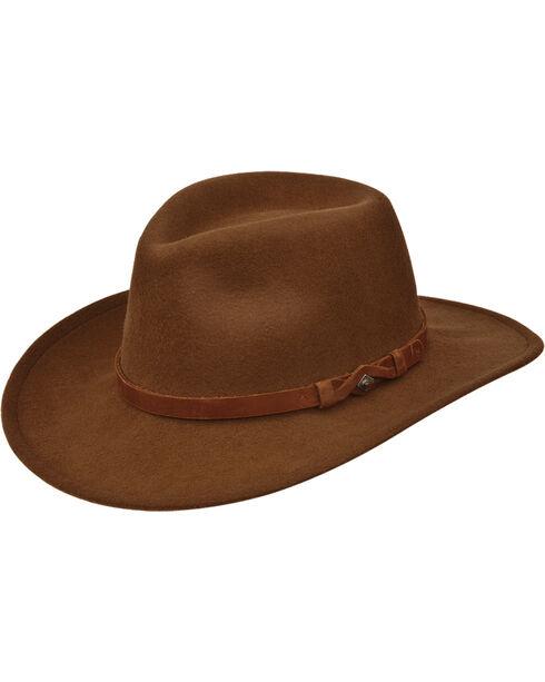Black Creek Men's Pecan Crushable Wool Hat  , , hi-res