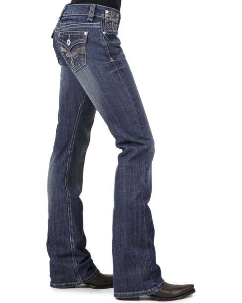 Stetson Women's 818 Rhinestone Bootcut Jeans, Denim, hi-res