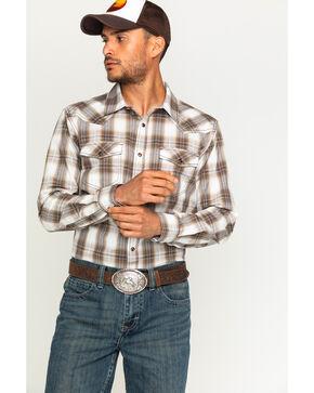 Cody James® Men's Plaid Long Sleeve Shirt, Brown, hi-res