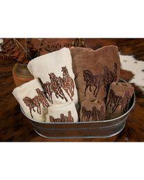 HiEnd Accents Three-Piece Embroidered Horses Bath Towel Set - Cream, , hi-res