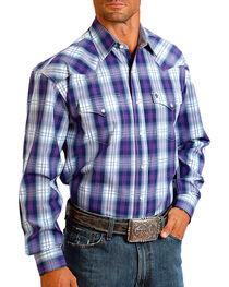 Stetson Men's Large Plaid Printed Long Sleeve Shirt, , hi-res