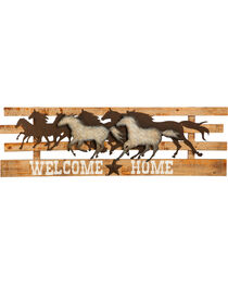 Evergreen Galloping Horse Welcome Home Sign , , hi-res
