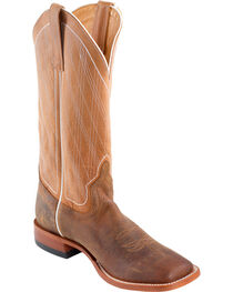 Horse Power Men's Distressed Bison Diamond Stitch Cowboy Boots - Square Toe, , hi-res