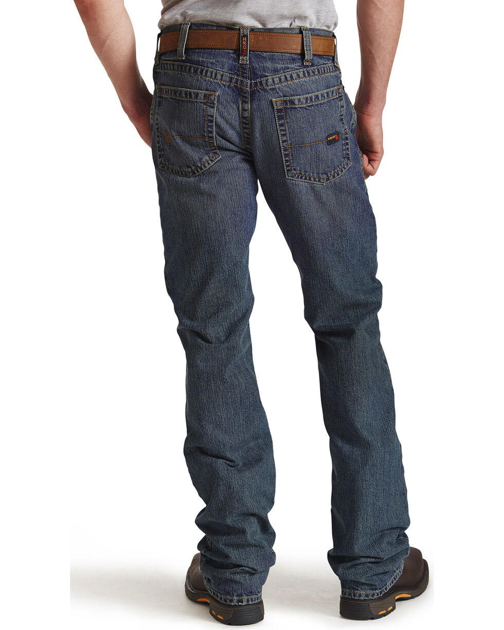 Ariat Flame Resistant M5 Slim Straight Clay Jeans - Big and Tall, Denim, hi-res