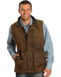 Outback Trading Men's Oilskin Deer Hunter Vest, , hi-res