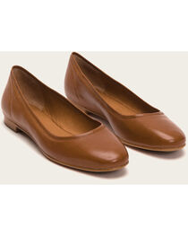 Frye Women's Cognac Gloria Ballet Shoes, , hi-res
