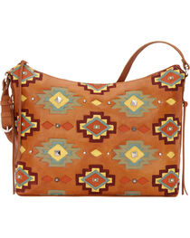 American West Women's Adobe Allure Zip-Top Shoulder Bag, , hi-res