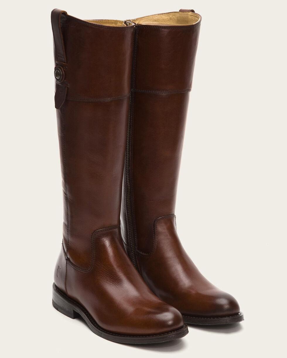 Frye Women's Redwood Jayden Button Tall Boots - Round Toe , Mahogany, hi-res