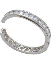 Montana Silversmiths Crystal Shine Silver Bangle Clasp Bracelet, , hi-res