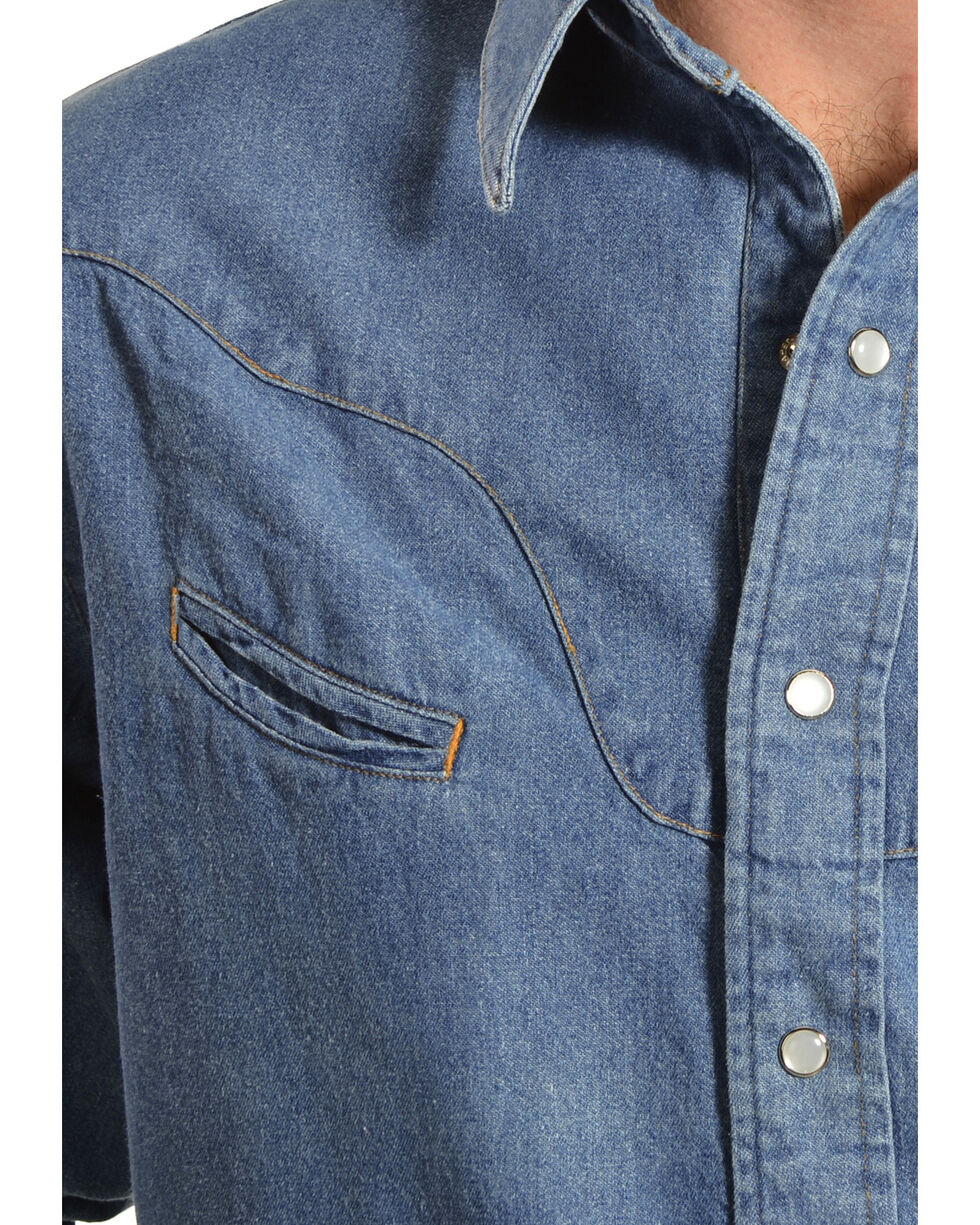 Schaefer Vintage Chisholm Denim Work Shirt, Denim, hi-res